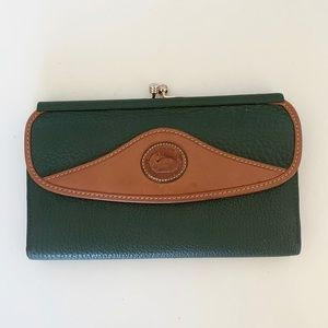 Vintage Dooney and Bourke AWL Leather Wallet Coin